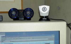 カメラをCRTにセット