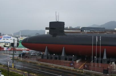 実物の潜水艦あきしお艦内見学