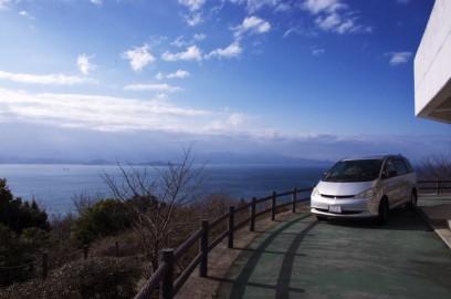岡村島のナガタニ展望台で