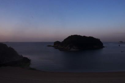 仙酔島での夜明け