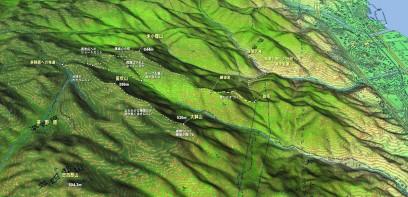 大竹から大鉢山への登山地図
