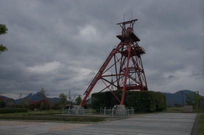 旧三井田川鉱業所の伊田竪坑櫓