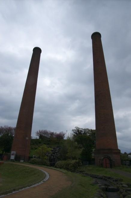 炭坑節で歌われた、大きな煉瓦の煙突