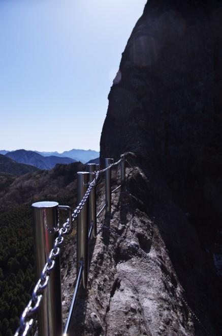 望雲台の絶壁