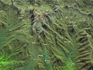 英彦山登山MAP