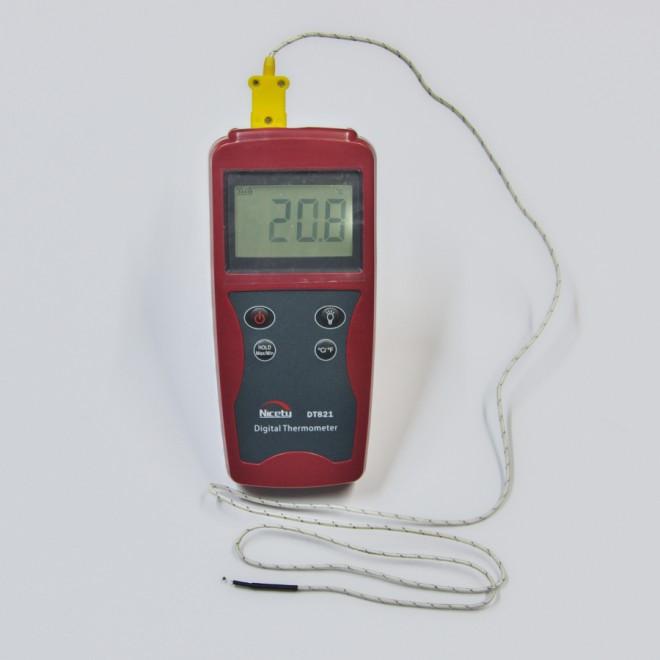 デジタル 熱電対 温度計/-50℃-1300℃ シングルタイプK DT821