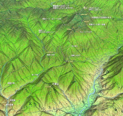 傘山登山MAP