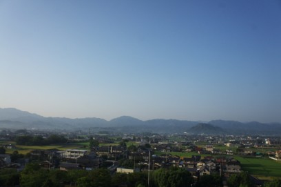 朝の讃岐平野