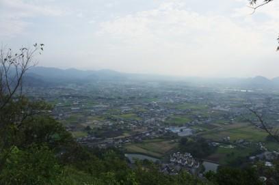 白山から讃岐平野を眺める