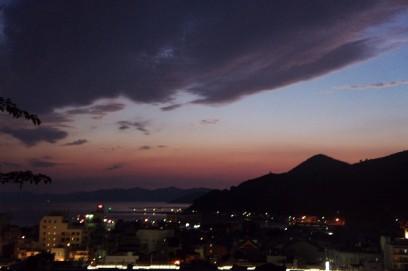 愛宕山からの残照 19時過ぎ