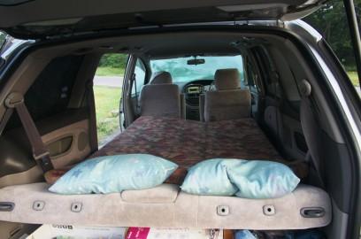 車中泊の寝床は快適でした