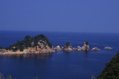 島根半島の北側を奇岩を見ながら流す
