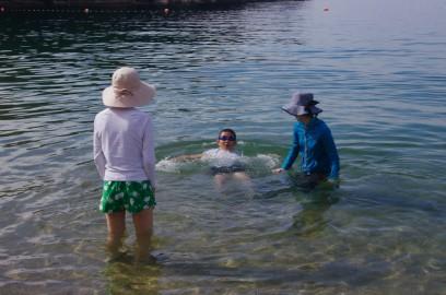 ヒデは泳ぎがうまくなっていました