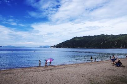 桂浜で午前中を遊びます