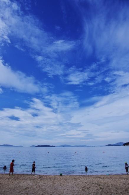 桂浜の海水浴場