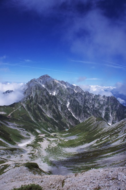 別山山頂からの剱岳
