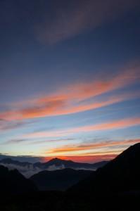 剱沢からの夜明け 5:30