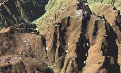 剣山荘から剱岳登山ルート