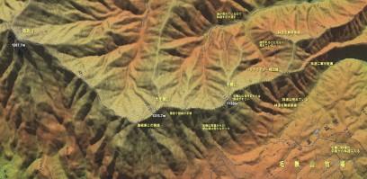 毛無山の登山マップ