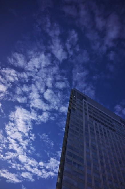 青い空が広がり気持ちが良い