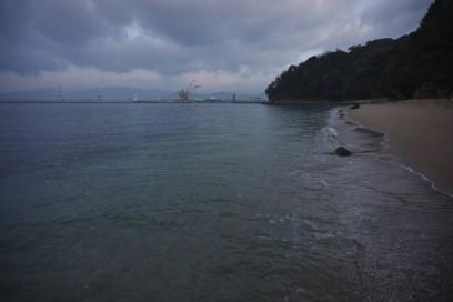 今日の海は穏やか