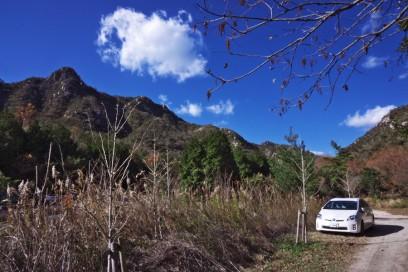 13:08 八幡岳登山口駐車場へ 八幡岳登山は熟年登山隊はあきらめ
