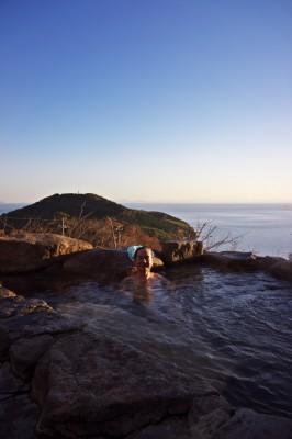 秋穂温泉の露天風呂