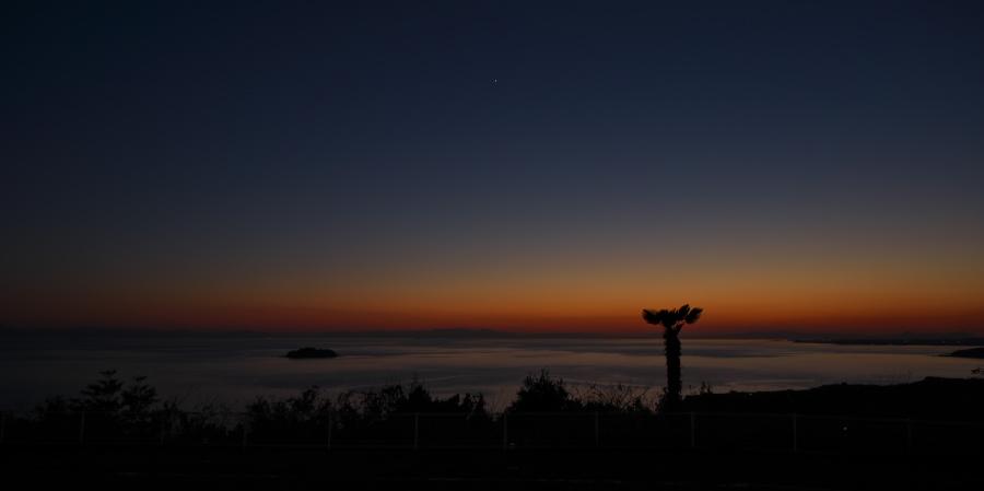 素晴らしい夕焼けでした