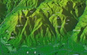 右田ヶ岳登山マップ