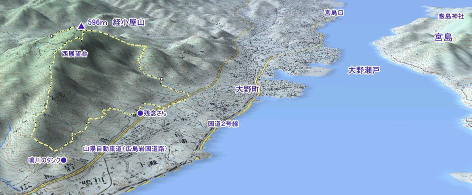 経小屋登山マップ