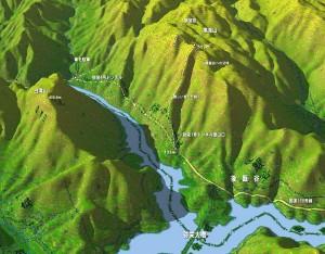 黒滝山、白滝山登山MAP