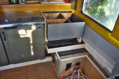 湯煎の位置を変更、ガスバーナーを使うので耐火型に