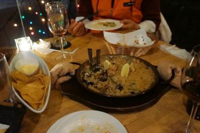 3月の研修の打ち合わせで会食 ペルー料理だがイマイチ