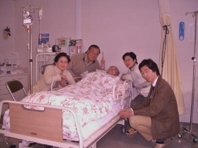 岡谷の叔父さんを見舞います