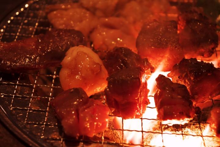 炭焼きでカルビーが美味しい