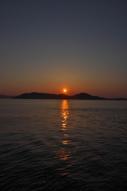 屋島の長崎ノ鼻からの夕日