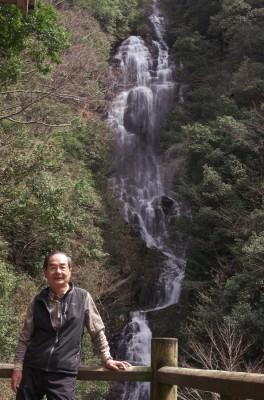 作木村にある滝百選の滝 落差126m
