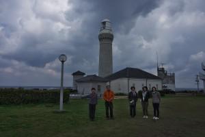 角島灯台で