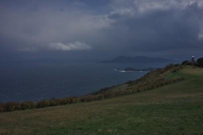 日置の千畳敷 青海島が見える