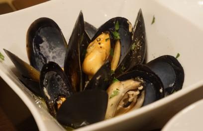 ムール貝を白ワインで