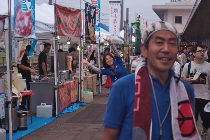 マルシェの平井さん、諏訪さんご苦労様でした 暑かったですね
