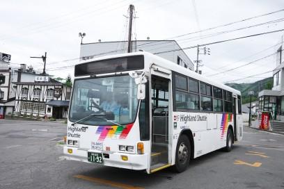 栂池高原から南小谷駅行きバス 便数は少ない