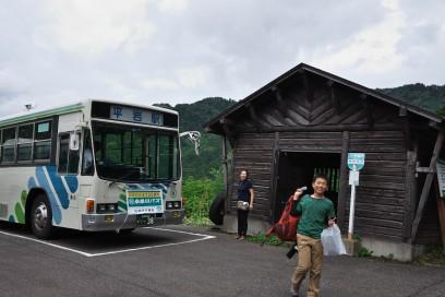 1時間ほどバスに揺られて蓮華温泉に到着
