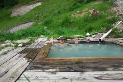 仙気の湯 温度は適温で長い間入れる