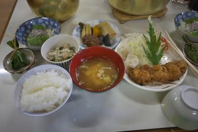蓮華温泉の夕食 美味しかった