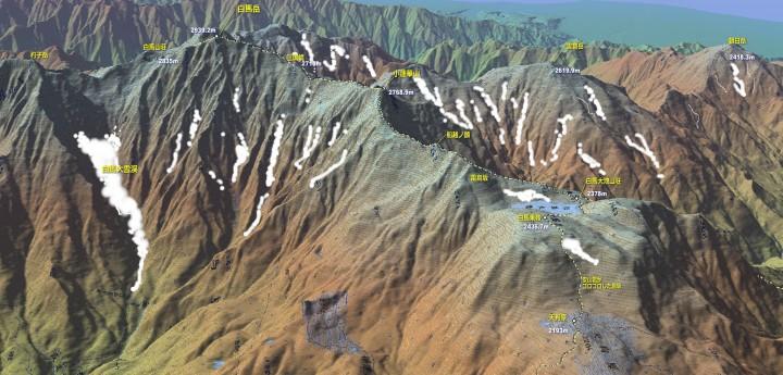 白馬大池から小蓮華山、白馬への登山道