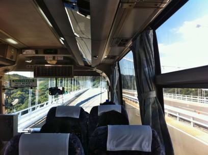 しまなみ海道を高速バスで今治に、約1時間半