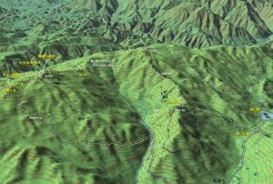 大土山の登山マップ