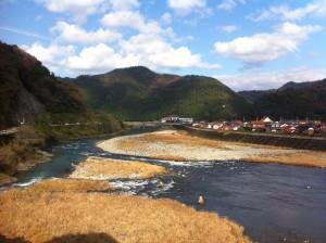 日原の高津川 素晴らしい快晴