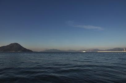 広島湾が快晴